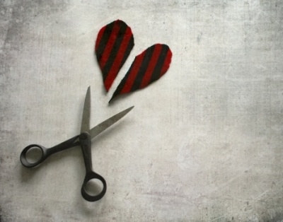 To cut a heart apart and run away